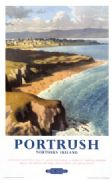 Portrush, Ramore Head, County Antrim, Northern Ireland. Vintage BR Irish Travel poster